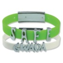 Silicone Bracelet with Metal Charms (Hong Kong)