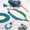 Turquoise And Coral Jewellery Set (Hong Kong)