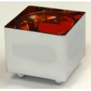 White Metal Cube Candle Holder (Hong Kong)
