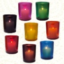 Tinted Glass Candle Holder (Hong Kong)