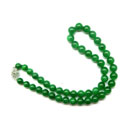 Fine Green Jadeite Necklace (Hong Kong)