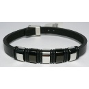 Stainless Steel Leather Bracelet (Hong Kong)