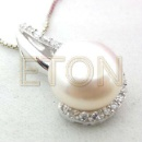925 Sterling Silver Fresh Water Pearl Pendant (Mainland China)