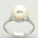 Pearl Ring 925 Silver Jewelry (Mainland China)
