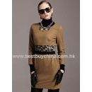Fancy Woolen Dress With Leopard Contrast (Hong Kong)