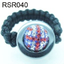 Charm Rhinestone Ball Shamballa Ring (Mainland China)