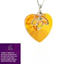 925 Silver Plated Heart Pendant with Swarovski Crystal (Hong Kong)