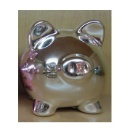 Metallic Silver Pig Bank (Hong Kong)