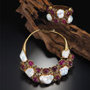 Ruby Pearl Jewelry Set (Thailand)