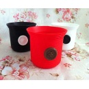 Colorful Button Pattern Silica Gel Cup Set (Hong Kong)
