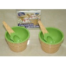 Gelato Cup Bowls and Spoons Set of 2 (Hong Kong)
