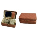 Traveling Jewelry Case with Metal Heart Detail Frame (Hong Kong)