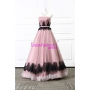 Black Lace Decoration And Purple Organza Fabric Type Layer Puffy Bridal Wedding Dress (China)