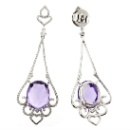 Diamond Amethyst Earrings (Hong Kong)