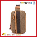 High Density Chest Canvas Bag Causal Style PU Leather Luggage Tag (China)
