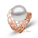 18K Rose Gold South Sea Pearl Ring (Mainland China)