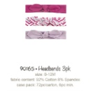 Girl Headbands 3PK (Hong Kong)