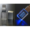 1-64GB Crystal USB Personalized Gift with LED Light (Hong Kong)