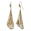 Sterling Silver Dangle Earrings 14K Gold Plated (Thailand)