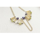 Amethyst, Onyx, Freshwater Pearl, Jade, Statement Necklace (Hong Kong)