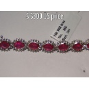 Ruby Cluster Diamond Bracelet (India)