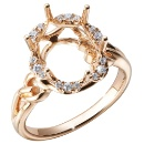 18K Rose Gold Semi-Mount Ring (Hong Kong)