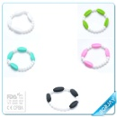 BPA Free Silicone Jewelry Loose Beads Bracelet for Baby Teething  (Mainland China)