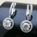 Pair Each 0.95ct Round Diamond Earring E009375-1 (Hong Kong)