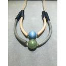 Double Layer Wooden Necklace (Hong Kong)