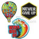 Embroidered Sticker Pack- Never Give Up (Taiwan)