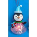 Clay Dough Penguin Ornament, Lighted (Hong Kong)