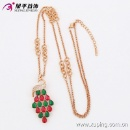 Fashion Rose Gold-Plated Colorful CZ Crystal Jewelry Necklace Chain with Swan-Plated -42893 (China)