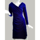 Velvet Long Sleeve Dress (China)