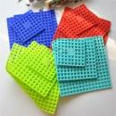 Eco-friendly Kitchen Adjustable Sink Protector Mat Set of 2 Multipurpose Square Silicone Sink Mat (China)