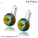 Colorful Crystals from Swarovski Jewelry Earring Huggies (Mainland China)