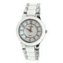 FW973A New Round PNP Shiny Silver Watchcase Boy Girl Ceramic Watch Fashion Watch (Hong Kong)
