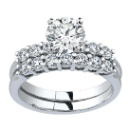 1.00TCW Sparkling Real Diamond Wedding Ring in 14K White Gold  (India)