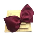 Burgundy with Rosette Flower Hair Clip (Hong Kong)