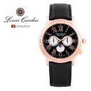 Louis Cardin Swiss Made Moon Phase Watch Stainless Sapphire (Korea, Republic Of)