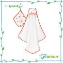 100% Cotton Pure Color Hooded Towel For Baby In Summer (Mainland China)