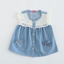 Denim Lace Sleeveless Blouse for Girls (China)