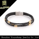 Magnetic Clasp Leather Wrap Bracelet  (China)