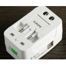 Universal 2 USB Port Travel Adapter (Hong Kong)