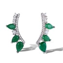 Custom Wholesale 925 Silver Emerald Earrings Design (Mainland China)