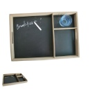 Wooden Tray with Memo Board (China)