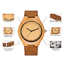 CUCOL Men's Bamboo Wooden Watch (Mainland China)