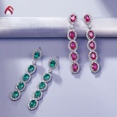 Handmade 925 Sterling Silver Gemstone Earring (Mainland China)