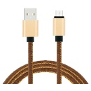 2.1A Data Fast Charging Cables USB Charger Cable Jean Cloth 8pin USB cable for iPhone X/8/7 6 6 Plus (Mainland China)