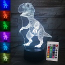 3D LED Night Lights Dinosaur (China)