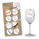 Christmas Snowman Drink Marker Sticker (Hong Kong)